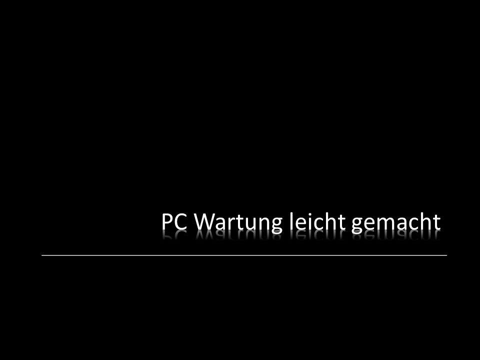 PC Wartung leicht gemacht
