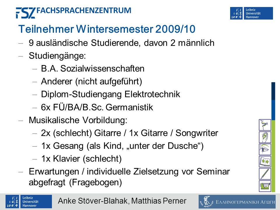 Teilnehmer Wintersemester 2009/10