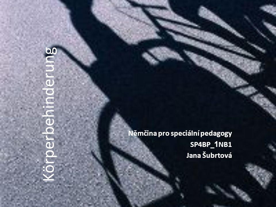 Němčina pro speciální pedagogy SP4BP_1NB1 Jana Šubrtová