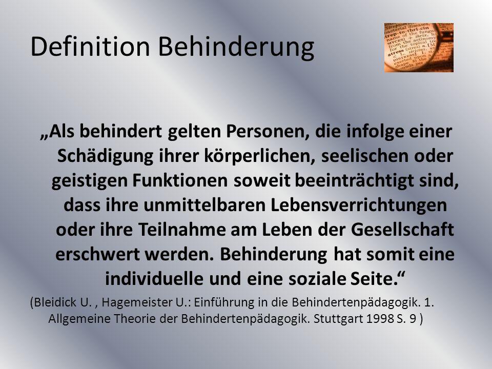 Definition Behinderung