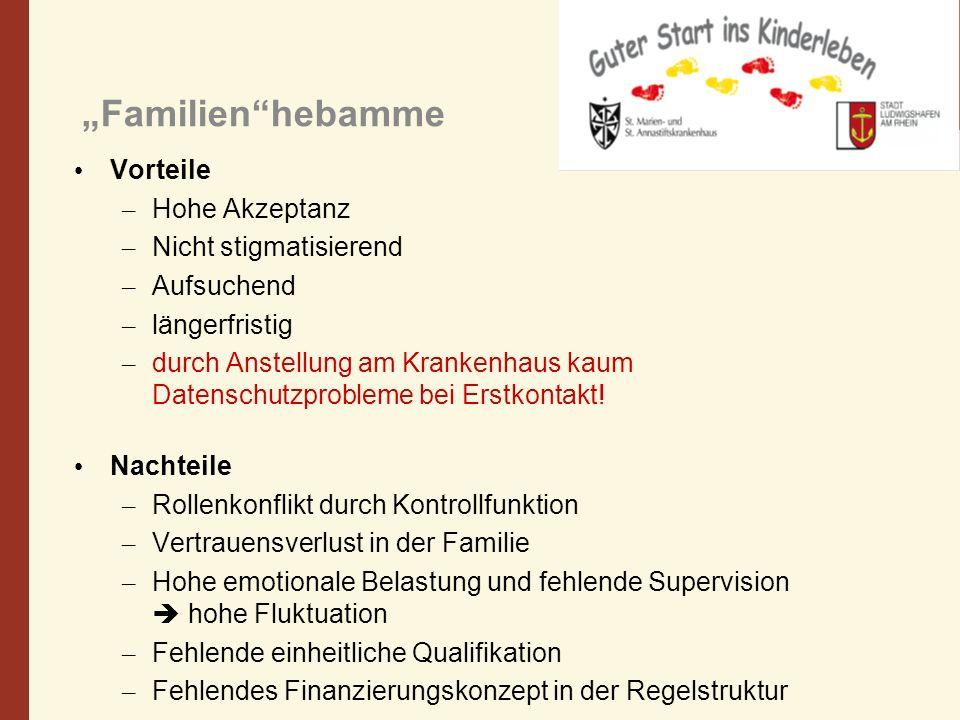 """""""Familien hebamme Vorteile Hohe Akzeptanz Nicht stigmatisierend"""