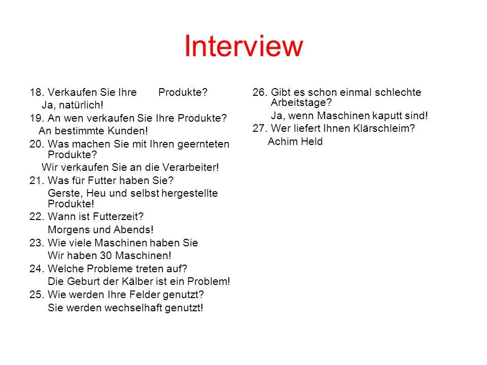 Interview 18. Verkaufen Sie Ihre Produkte Ja, natürlich!