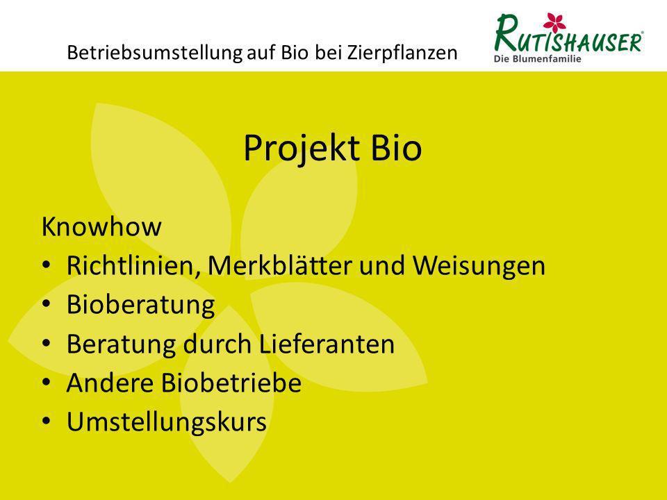 Betriebsumstellung auf Bio bei Zierpflanzen