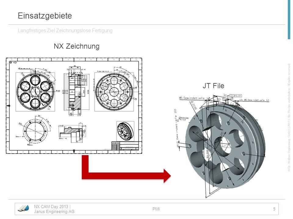 Einsatzgebiete NX Zeichnung JT File