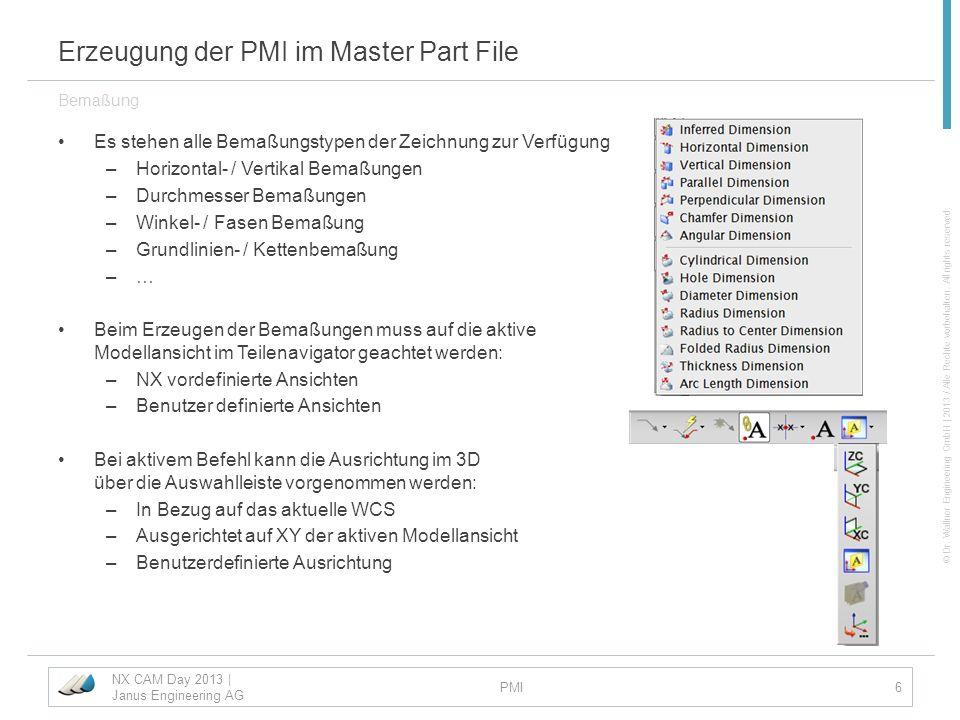 Erzeugung der PMI im Master Part File