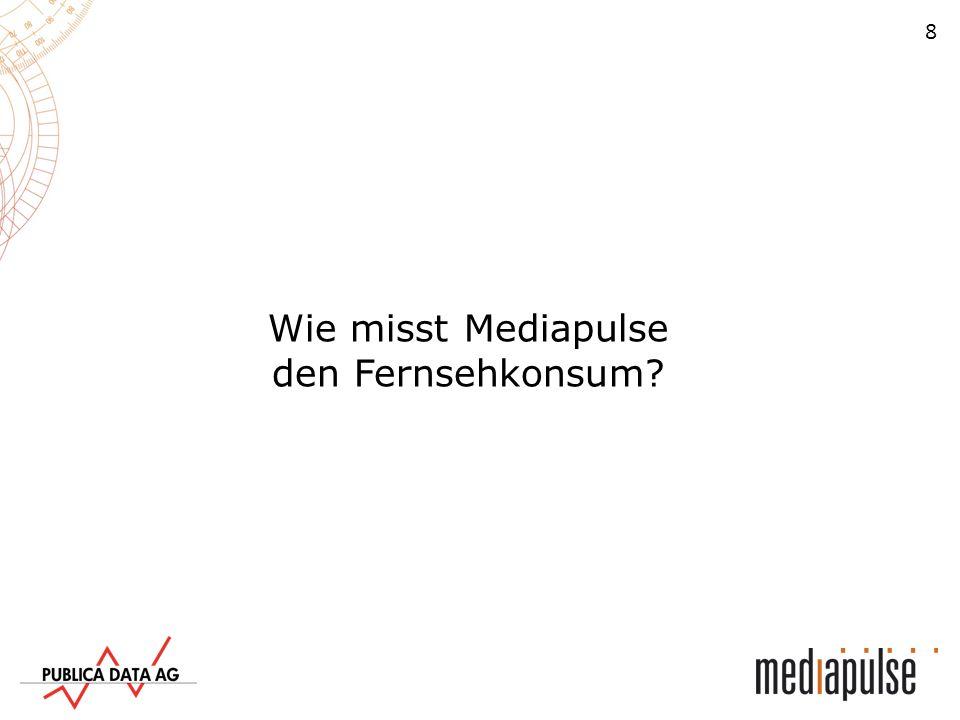 Wie misst Mediapulse den Fernsehkonsum