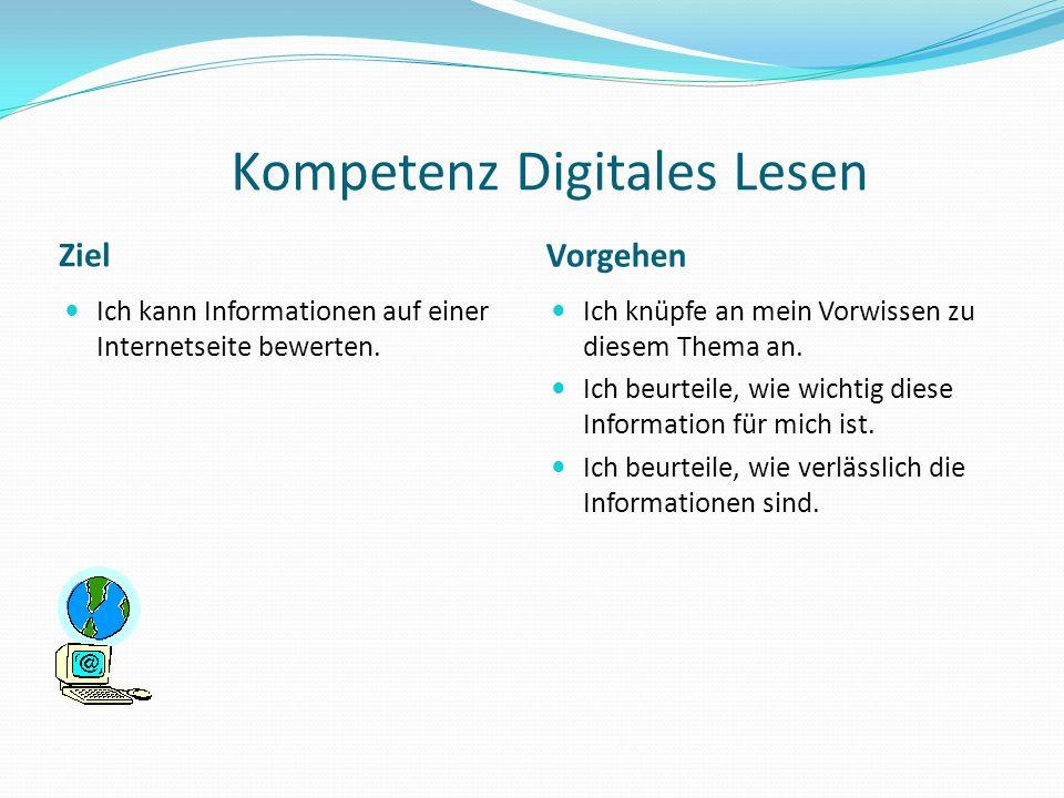 Kompetenz Digitales Lesen