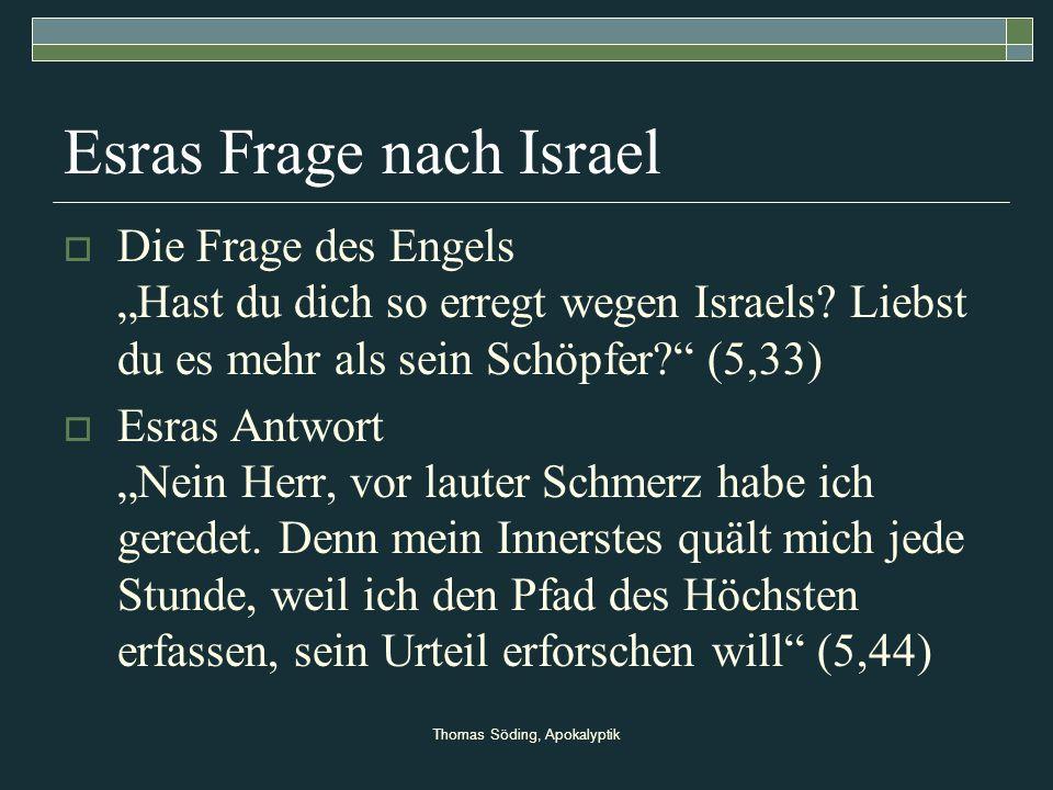 Esras Frage nach Israel