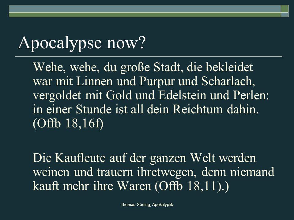 Thomas Söding, Apokalyptik