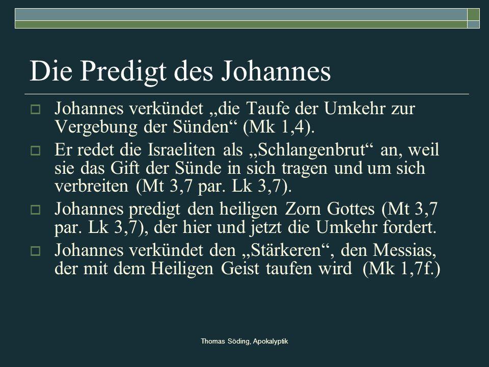 Die Predigt des Johannes