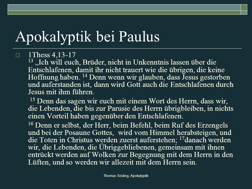 Apokalyptik bei Paulus