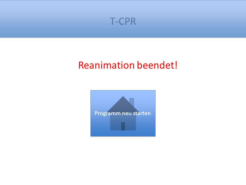 Reanimation beendet! Programm neu starten