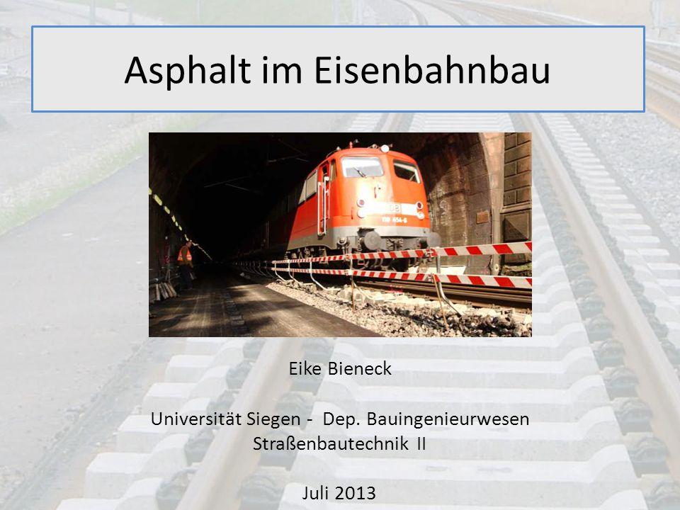 Asphalt im Eisenbahnbau