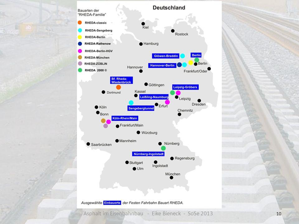 Asphalt im Eisenbahnbau - Eike Bieneck - SoSe 2013
