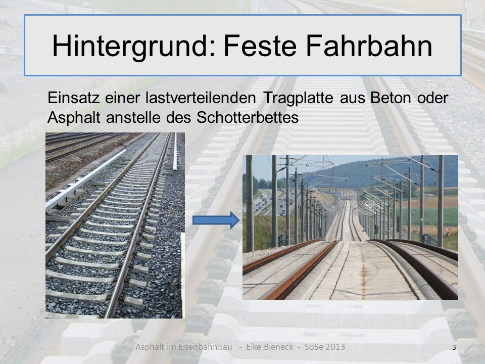 Hintergrund: Feste Fahrbahn