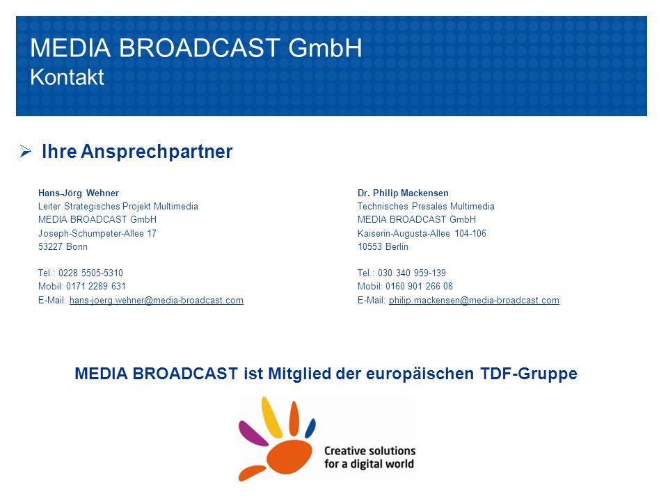 MEDIA BROADCAST GmbH Kontakt