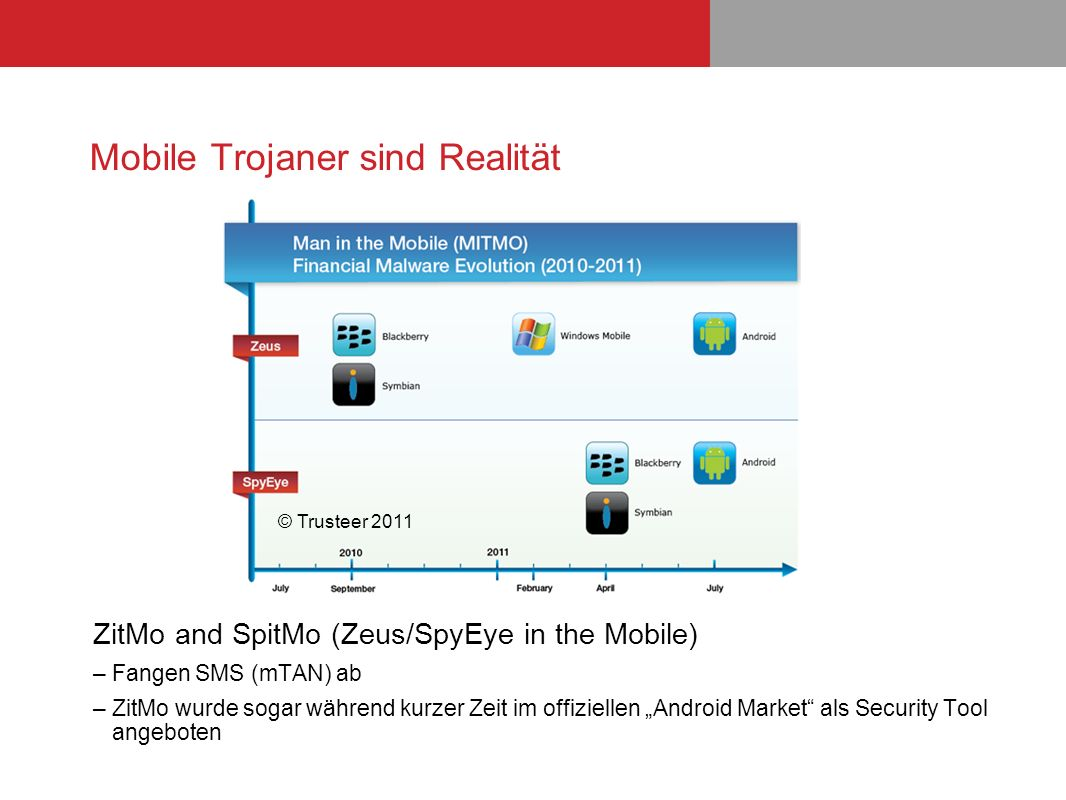Mobile Trojaner sind Realität