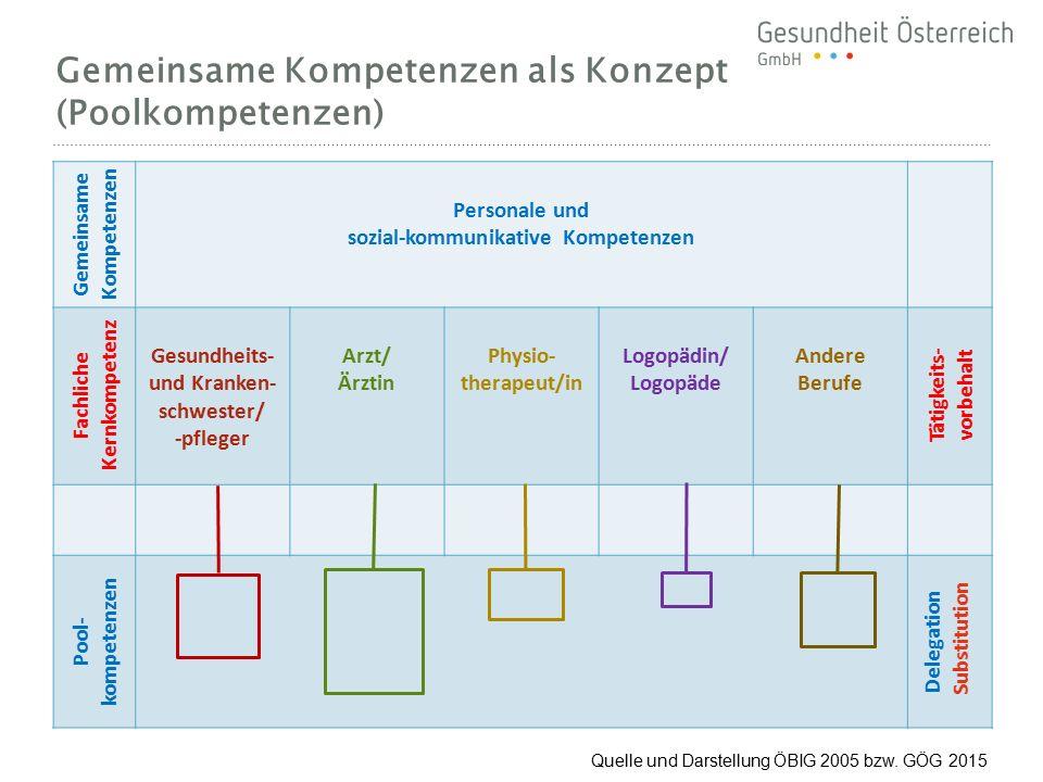 Gemeinsame Kompetenzen als Konzept (Poolkompetenzen)