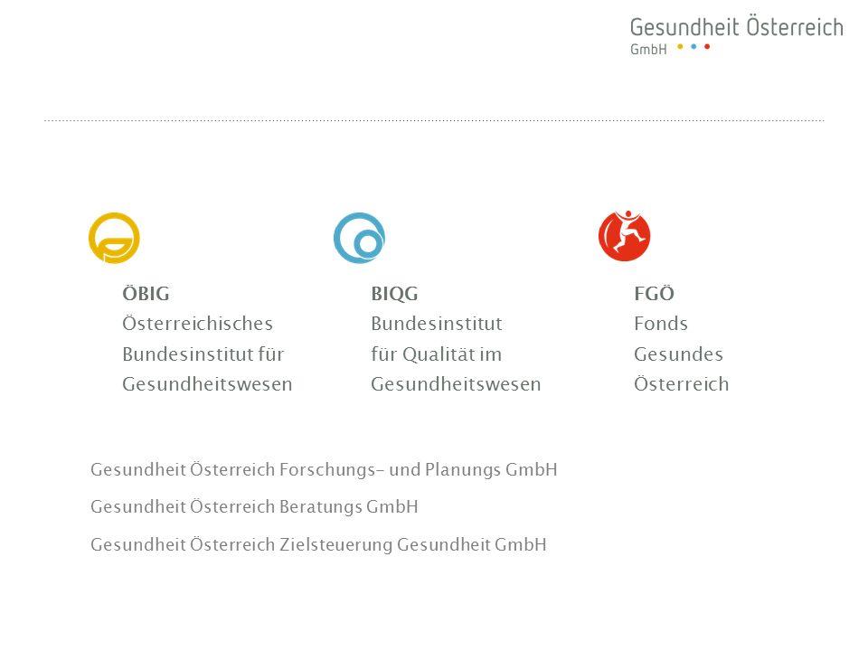 ÖBIG Österreichisches Bundesinstitut für Gesundheitswesen