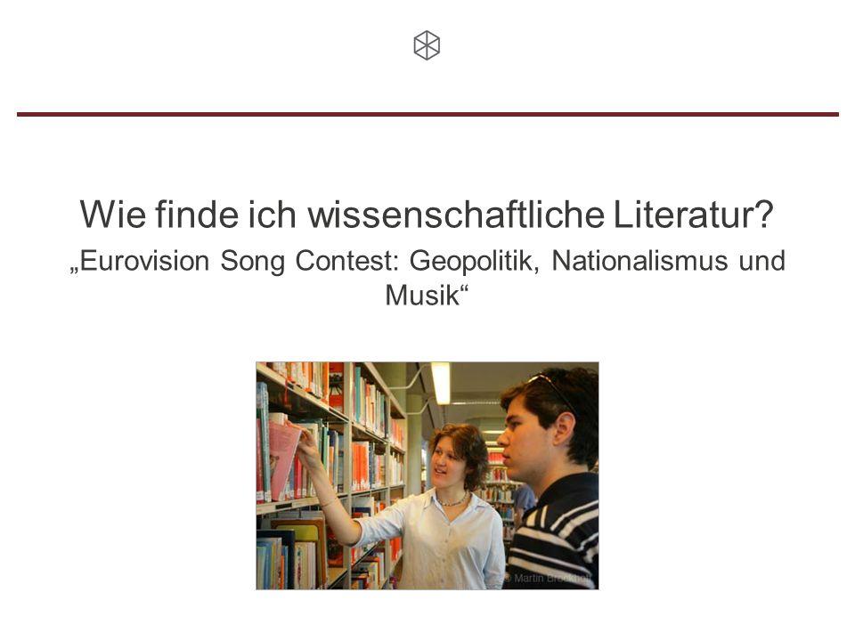 Wie finde ich wissenschaftliche Literatur