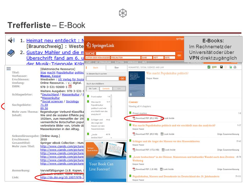 Trefferliste – E-Book E-Books: