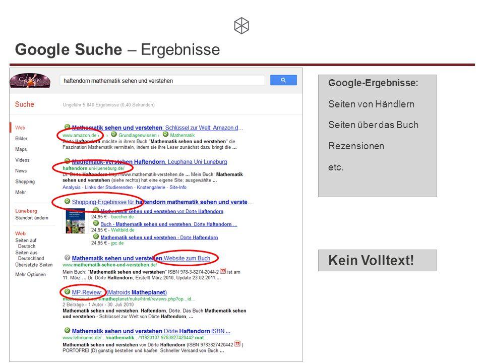 Google Suche – Ergebnisse