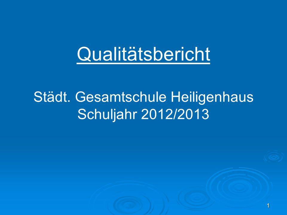 Qualitätsbericht Städt. Gesamtschule Heiligenhaus Schuljahr 2012/2013