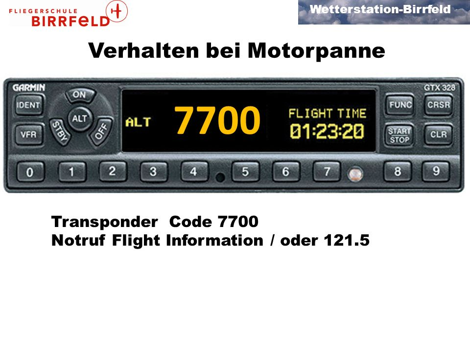 7700 Verhalten bei Motorpanne First fly the plane