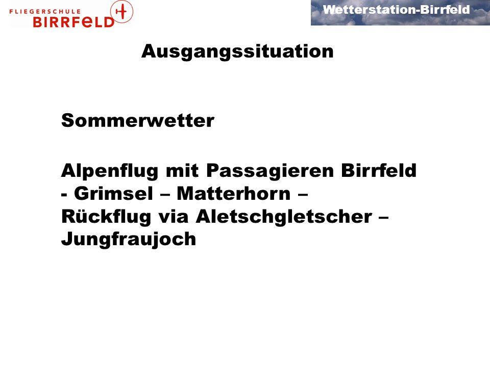 Ausgangssituation Sommerwetter.