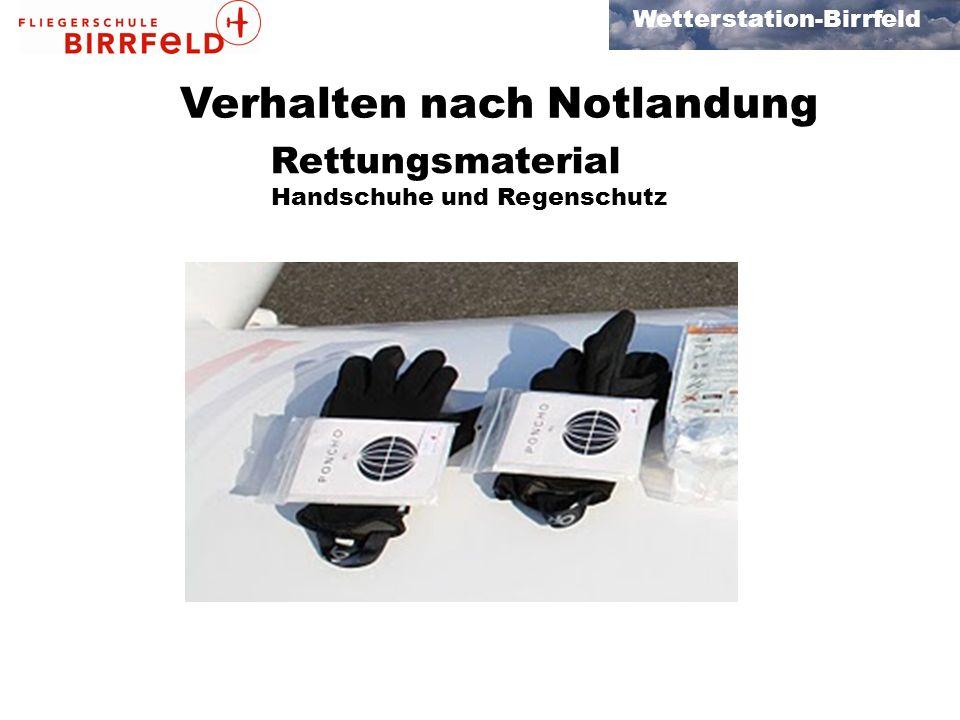Handschuhe und Regenschutz