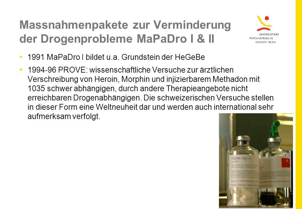 Massnahmenpakete zur Verminderung der Drogenprobleme MaPaDro I & II