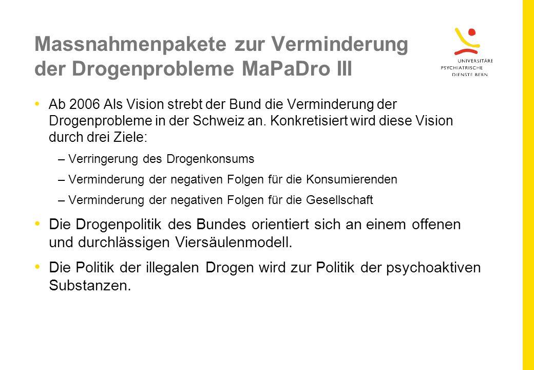 Massnahmenpakete zur Verminderung der Drogenprobleme MaPaDro III