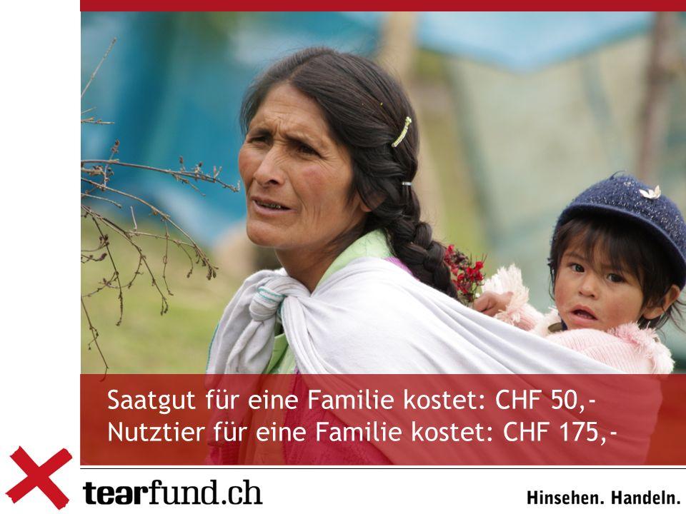 Saatgut für eine Familie kostet: CHF 50,-
