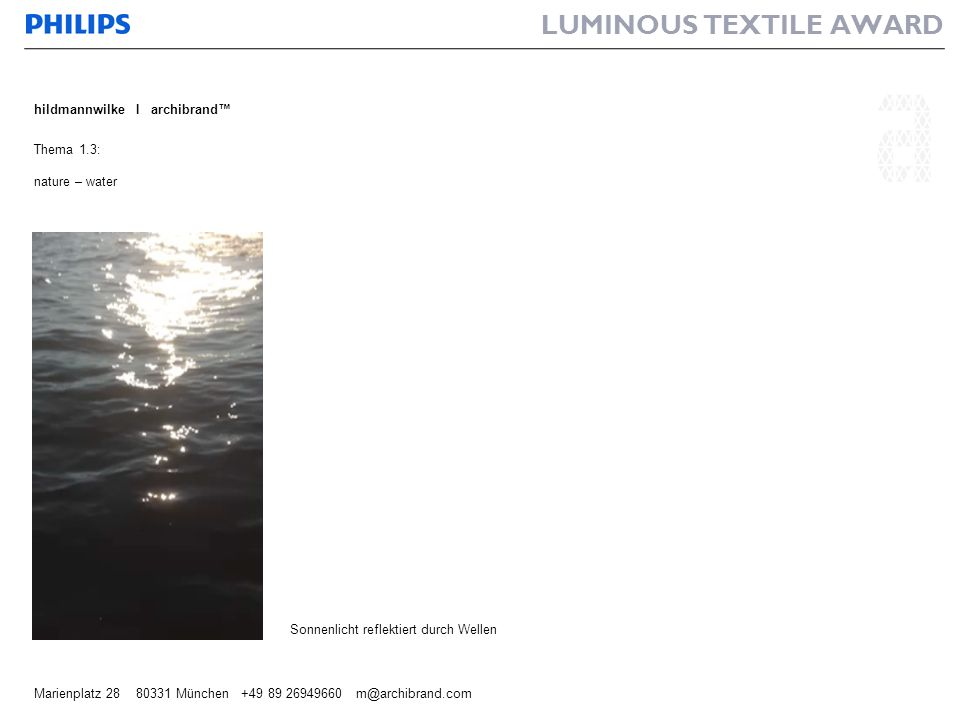 LUMINOUS TEXTILE AWARD