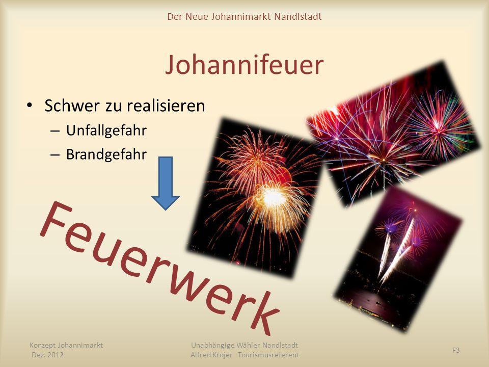Feuerwerk Johannifeuer Schwer zu realisieren Unfallgefahr Brandgefahr