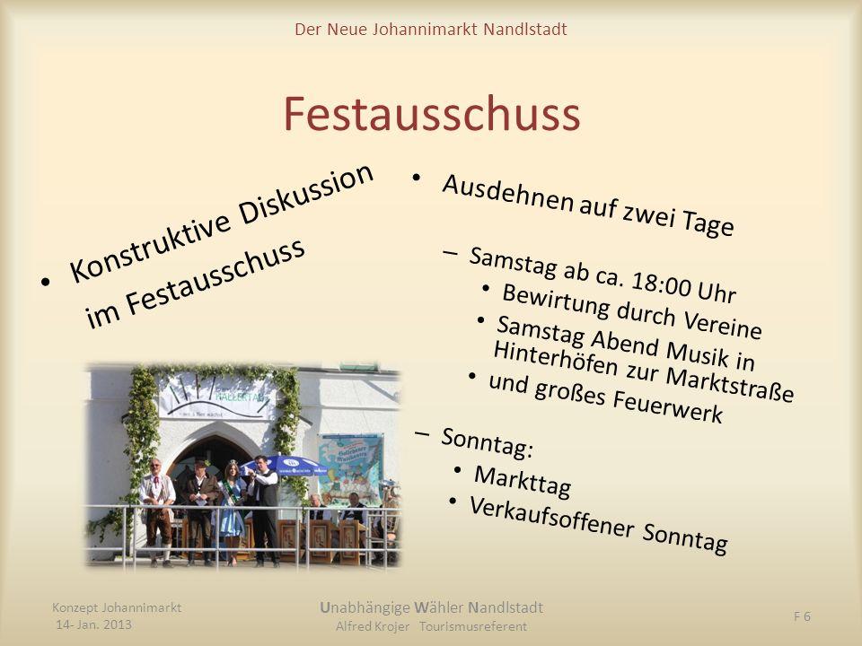 Festausschuss Konstruktive Diskussion im Festausschuss