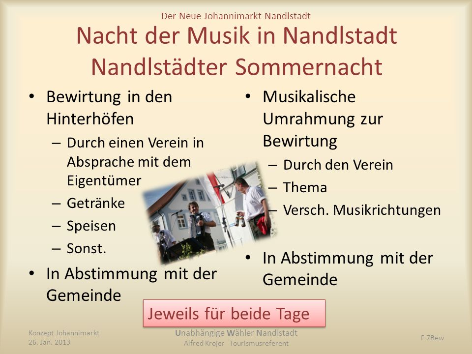Nacht der Musik in Nandlstadt Nandlstädter Sommernacht