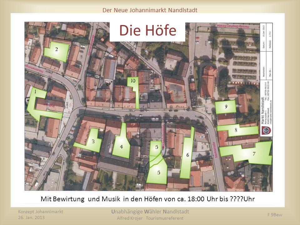 Die Höfe Mit Bewirtung und Musik in den Höfen von ca. 18:00 Uhr bis Uhr. Konzept Johannimarkt.