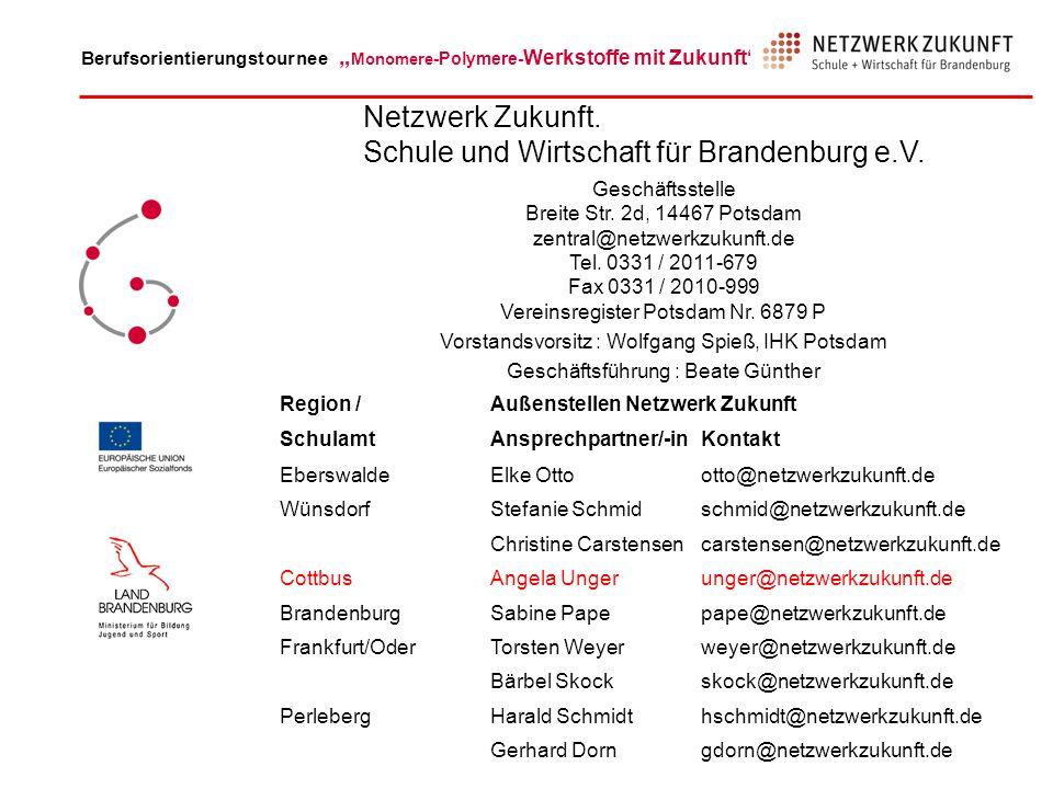Netzwerk Zukunft. Schule und Wirtschaft für Brandenburg e.V.