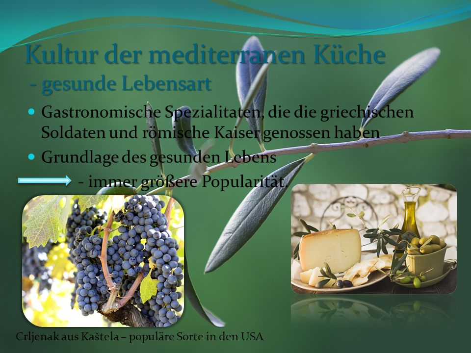 Kultur der mediterranen Küche - gesunde Lebensart