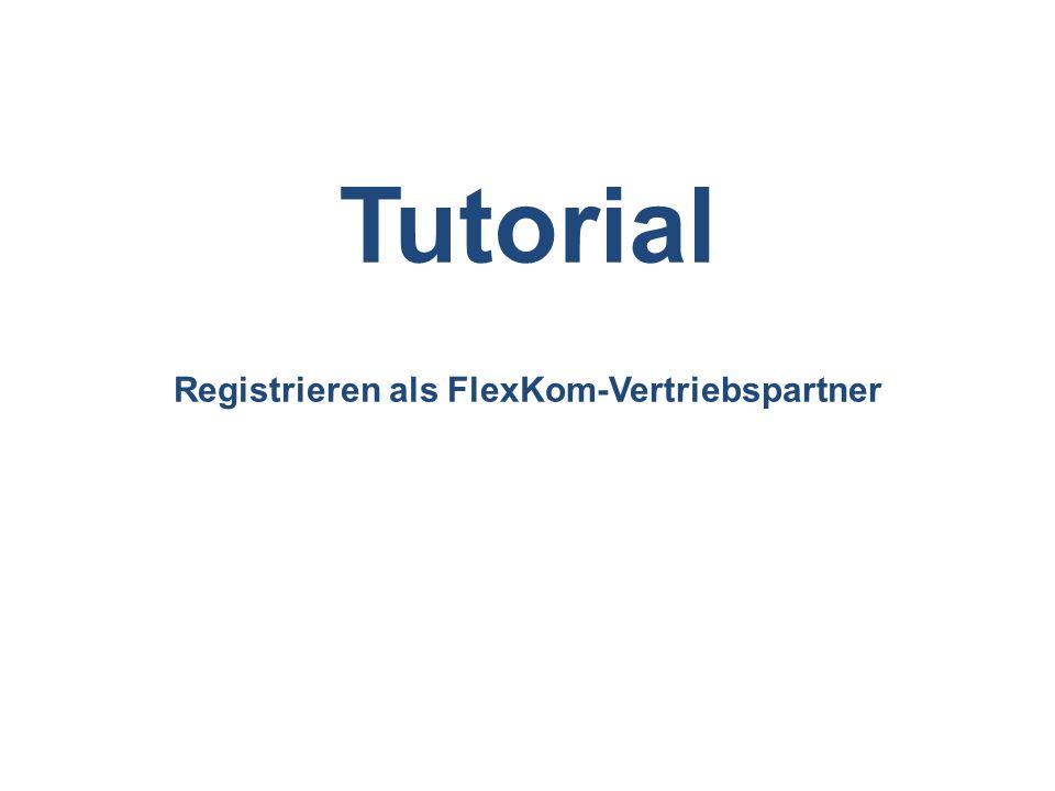 Registrieren als FlexKom-Vertriebspartner