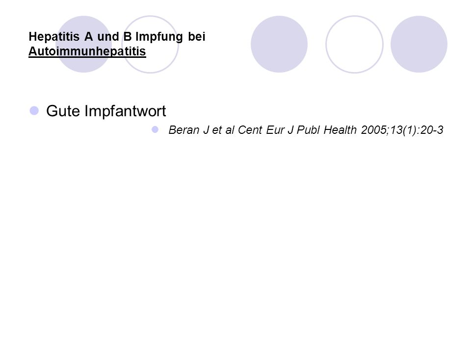 Hepatitis A und B Impfung bei Autoimmunhepatitis