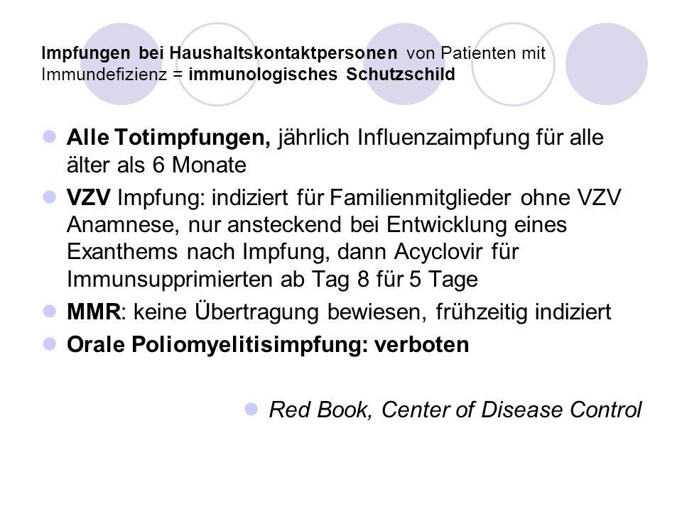 MMR: keine Übertragung bewiesen, frühzeitig indiziert