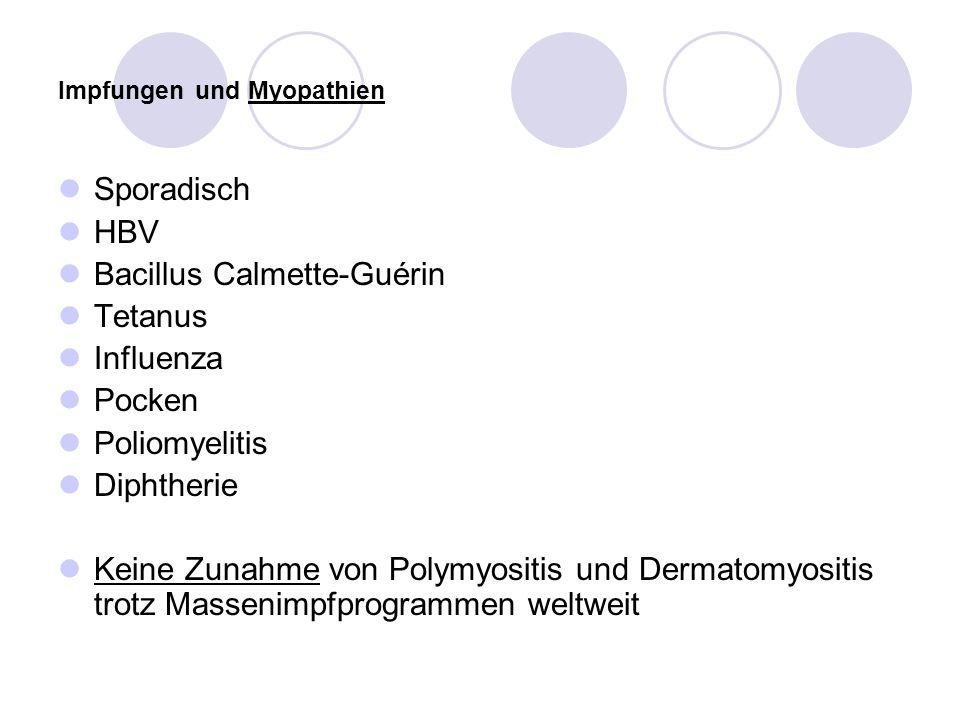 Impfungen und Myopathien