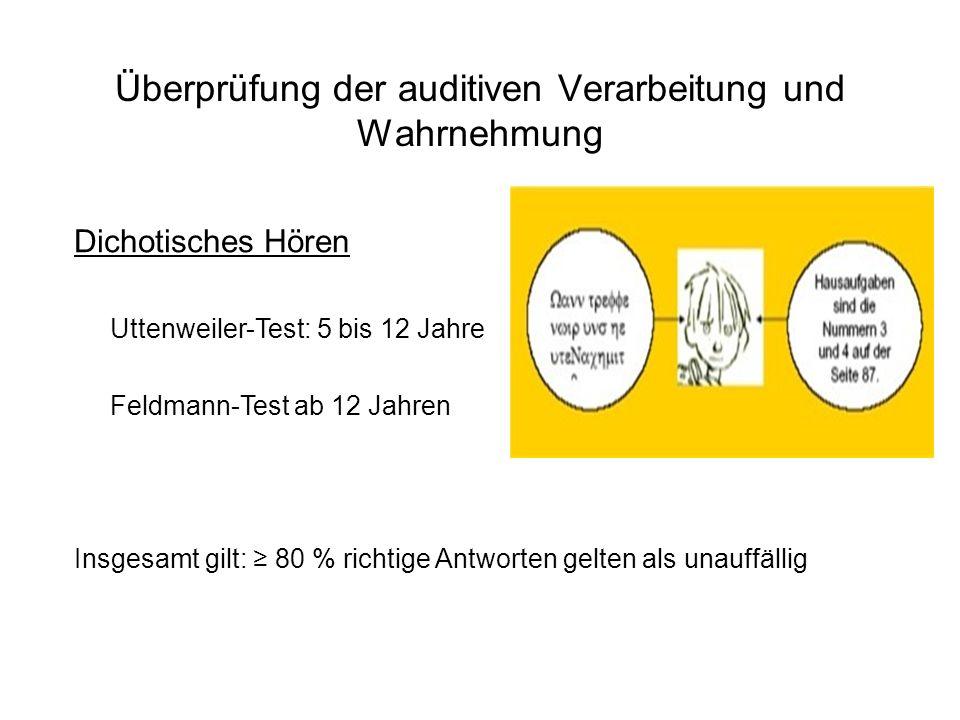 Überprüfung der auditiven Verarbeitung und Wahrnehmung