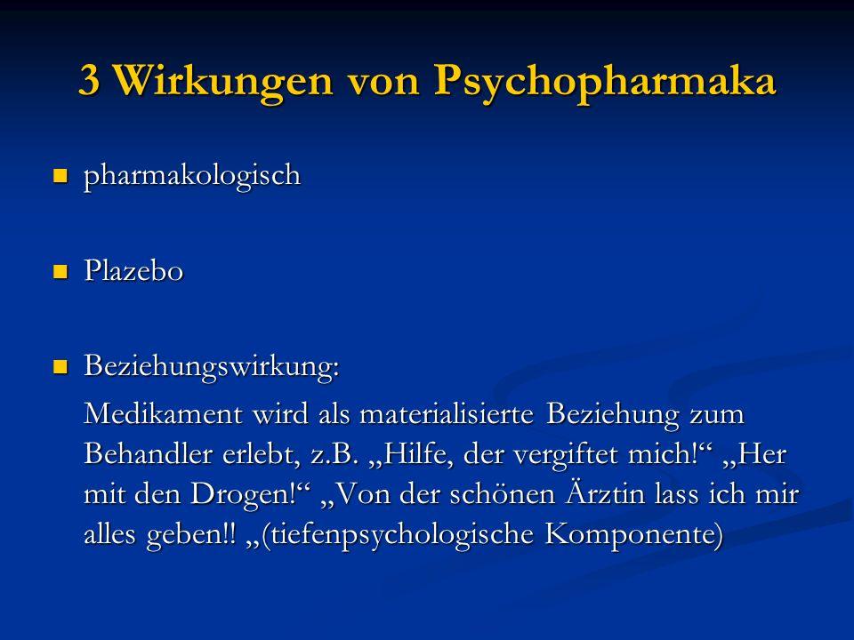 3 Wirkungen von Psychopharmaka