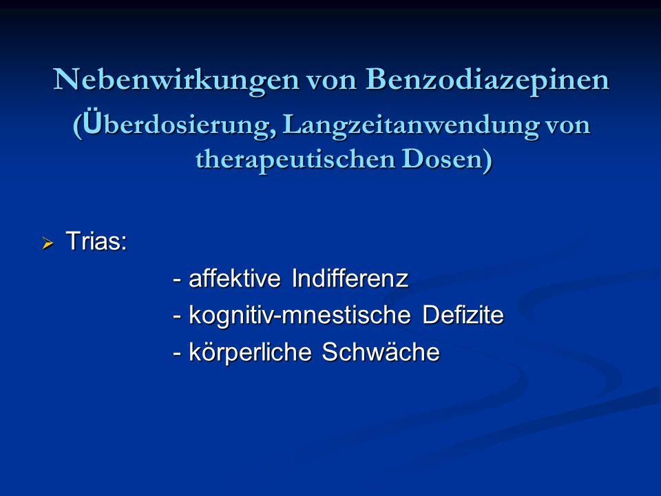 Nebenwirkungen von Benzodiazepinen