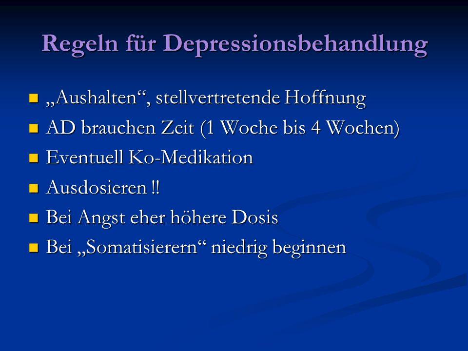 Regeln für Depressionsbehandlung