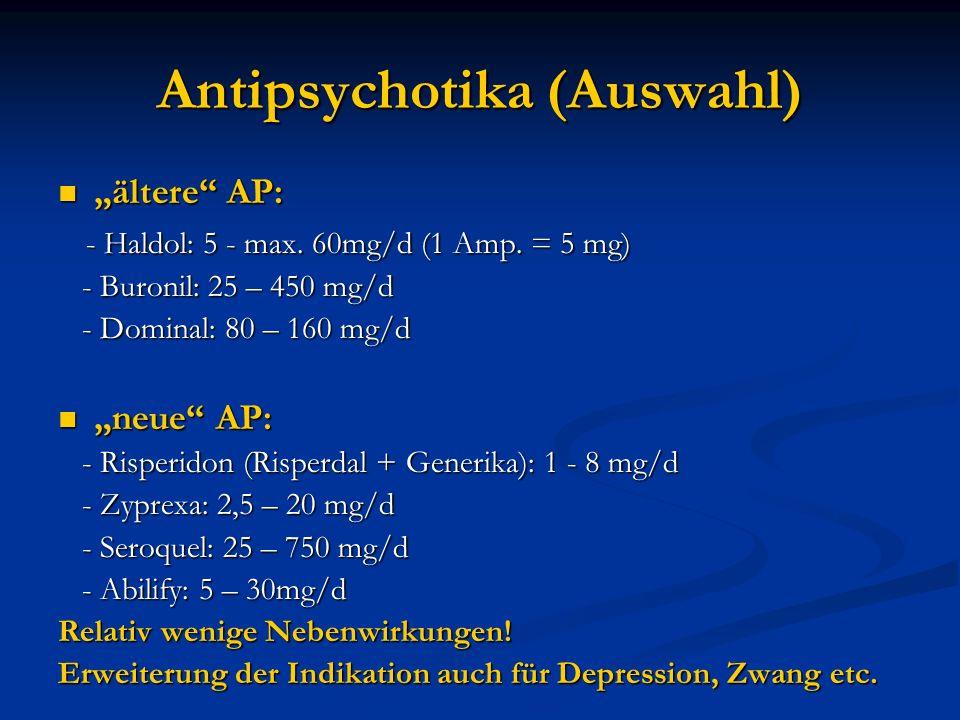 Antipsychotika (Auswahl)