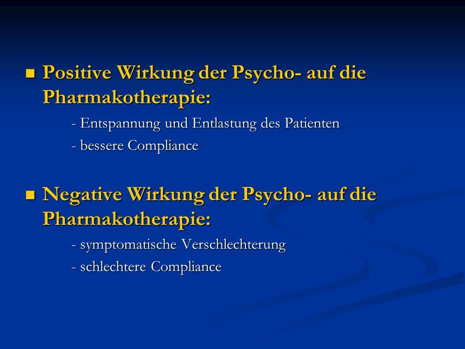 Positive Wirkung der Psycho- auf die Pharmakotherapie:
